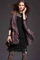 american funds - Vogue of new fund of autumn long long sleeve trench coat women cultivate one s morality and printing