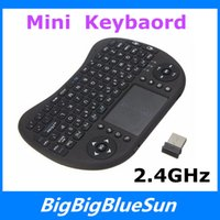 Wholesale Keyboard Rii mini i8 Air Mouse Multi Media Remote Control Touchpad Handheld Keyboard for TV BOX PC Laptop Tablet Mini PC