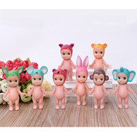 Wholesale 8PCS SET Animal Series Sonny Angel Doll Kawaii Cupid Minifigure Doll Car Home Wedding Decoration Little Toys Gifts
