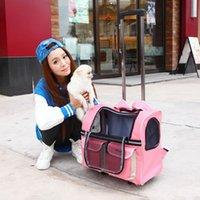dog stroller - Protable Pet Carrier Dog Trolley Bag Puppy Dog Luggage Strollers Travel Tote Backpack HB0034