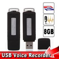 Wholesale New GB USB Hidden Spy Voice Audio Recorder Pen USB Disk Dictaphone Hours Recording