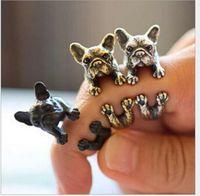 american bulldog gifts - Pug vintage ring The adjustable bulldog animals ring