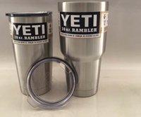 big oz - 2016new Hot selling Rambler Tumbler oz and oz YETI Cups Cars Beer Mug Large Capacity Mug Tumblerful Cups big stock high quality