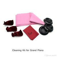 Wholesale 4 in Maintenance Piano Cleaning Kit Set Keyboard Protective Dirt proof Cover Pedal Cover Cleaning Clot for Grand Piano
