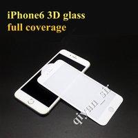 vidrio templado Iphone 7 3D protector de pantalla curva de la cubierta completa resistente a los arañazos de alta calidad iPhone 0.26mm 7 más protector de pantalla en negro