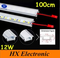 Wholesale 100cm Led Bar Light U Type Aluminum Alloy Slot W Led Rigid Strips Light Warm Pure Cool White Leds M SMD V