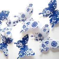 flower stickers wall - 12pcs D Three dimensional Home PVC Butterfly Wall Decals For Kids Room TV Wall Stickers Kitchen Kids Wall Sticker Flower
