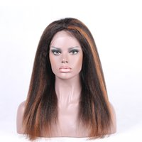 bank fashion sale - Mix Color Full Lace Wigs Virgin Brazilian Natural Straight Human Hair Wigs Fashion Stars Hairstyle Lace Front Wigs for Sale