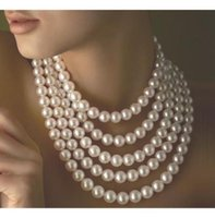 akoya pearl necklace free shipping - new long quot mm Genuine white akoya pearl necklace14K Gold