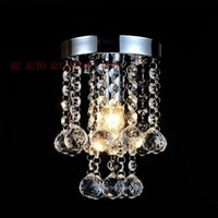 Wholesale Luxury Small Crystal Chandelier Lustre Light with Stainless Steel Frame and Top K9 Crystal D15cm H23cm