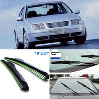 Wholesale 2pcs quot quot front windscreen High quality windshield wiper blades Soft Rubber WindShield Wiper Blade For Volkswagen Bora