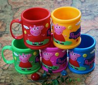 Wholesale Cartoon pig pig Mug Mug colored fall Mug mug PVC soft spot Five styles
