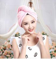 bamboo towel holder - Magic Quick Dry Microfiber Hair Towel Hair drying Ponytail Holder Cap Towel Lady Microfiber Hair Towel hat cap High quality