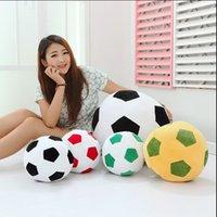ball sofa - 1pcs cm Home Sofa Soccer Ball Plush Pillow Toys World Cup Football Fan Memorable Gift Colors