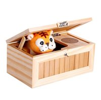 Wholesale Don t Touch Useless Box Hot sell lovely wooden box don t touch me tiger automatically turn off useless box
