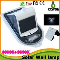 Wholesale Solar Power led wall lights Sensor Wall lamps Outdoor IP65 smart led lights Garden Solar Light Led Fence Light Sun Wall Corridor lights