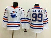 Wholesale NHL Eomonton Oilers GRETZKY New Youth kids Ice Hockey Jerseys white orange blue color McDAVID HORCOFF all sizes MIX ORDER