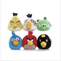 Wholesale 6 style NEW PLUSH ANGRY BIRDS AND ANGRY PIG SOFT TOY ANGRY BIRDS COLLECTION