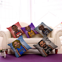 basketball pillows - Basketball Star Print Kobe Bryant Cotton Pillow Case cm cm Throw Cushion Cover Gift For Home Office Decoration