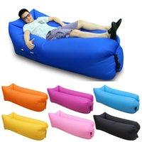 Wholesale Portable ONE HOLE Outdoor Fast Inflatable Sleeping bags Beach Sofa Hangout Camping Bed Comfortable Lounger kg Colors