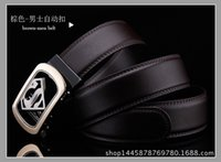 Wholesale High quality Mens Luxury Brand Belt Business Belts Superman Automatic Buckle Genuine Leather Belt Men Accessories Casual Waist Belt Ne