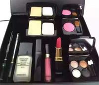Wholesale 2016 High Quality Eye Shadow Eyeliner Mascara Lipstick Lip Gloss Blush Foundation Cosmetic Set Makeup medium M makeup set