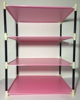 Wholesale 2016 New Living Room Bathroom Storage Rack Stand Storage Rack Storage Holders Racks Layers Pink