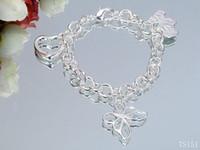 authentic silicone bracelets - Luxury Woens bracelet heart Leather Authentic Love Sterling silver bracelets bracelets