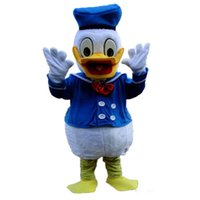 athletics picture - 2016 Real Pictures Deluxe Donald Duck and Daisy Duck Mascot costume adult size mascots costumes halloween party supply Ems