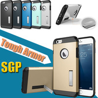 sgp stand - SGP Tough Armor Kickstand Stand Holder TPU PC Heavy Duty Shockproof Hybrid Hard Case Cover for iPhone S Plus Samsung Galaxy S7 S6 edge
