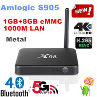 android bluetooth internet - Cheap X98 Android TV Box Bluetooth GB Amlogic S905 P Wifi Metal Material Smart TV Box for Internet Media