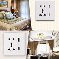 Wholesale Hot Worldwide Home Accessories Dual USB Port Electric Wall Charger Dock Socket Power Outlet Panel Plate