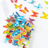 Wholesale 6pcs Beautiful Edible Image Butterfly Cake and Cupcake Toppers Cake Cookie Decorations for Weddings Birthdays Anniversary