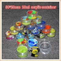 acrylic food storage box - glass Wax Containers silicone box ml acrylic container Non stick food grade wax jars dab storage jar oil holder for vaporizer vape