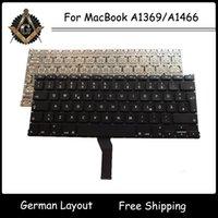 Wholesale New Original DE GER German Keyboard for MacBook Air A1369 A1466 German Keyboard Year