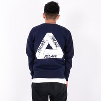 Cheap New Arrival PALACE Hoodies Men's Black Navy Crew Neck Sweatshirt Winter Autumn Fleece Hoodies Skateboard Sweatshirt Jacket LLWF0533
