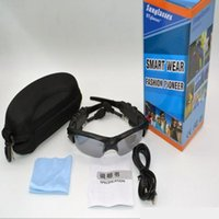 Wholesale Sunglasses Bluetooth Headset Wireless Sports Headphone Sunglass Stereo Handsfree Earphones mp3 Music Player With Retail Package E015