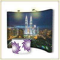 aluminum magnetism - 10ftx8FT Magnetism Aluminum Popup Magnetic Display Stand with PVC Banner