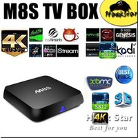Wholesale M8S Amlogic S812 Android tv box kodi fully loaded smart Quad Core D K GB GB rooted IPTV Video