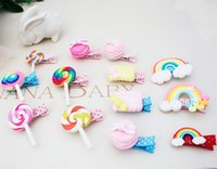 baby highlights - new children s hair accessories cute dessert cake design highlights all inclusive cloth baby safety cartoon hairpin