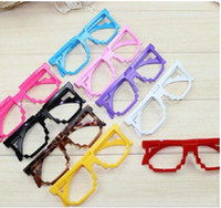 Wholesale 2016 New Mosaic Children Sunglasses Frames Kids Glasses Frames Baby Girl Boy Fashion Accessories Party Gifts
