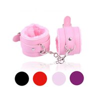 Wholesale Sex Game Handcuffs PU Leather Restraints Bondage Cuffs Roleplay Costume Tools Sex toys for Couples Colors