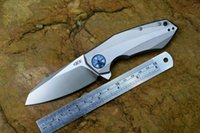 Wholesale Us Local Shipping B001728 ZT D2 Blade Titanium Knife Knives