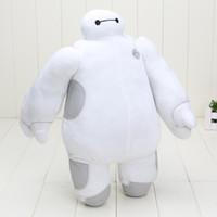 Precio de Superhéroes juguetes de peluche-En los juguetes de superhéroes Baymax Robot manos movibles felpa rellena Animales Juguetes Big Hero 6 regalos calientes de Navidad para los niños de los niños