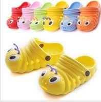 Wholesale Lovely caterpillar garden boy girl baby antiskid shoes summer sandals sandals children indoor slippers of foreign trade