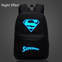 Wholesale Hot Sale Superman School Bag Iron Man Backpack Magical Luminous School Bags Glowing at Night Student Backpack Travel Bag