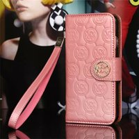 Wholesale Elegant Design Cell Phone Cases Fine Leather PU Wallet Cell Phone Shells with Bling Diamond for iphone Samsung