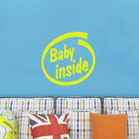applied area - Baby In The English Alphabet Pattern Vinyl Decorative Wall Art Stickers Warning Applies To The Area And Home