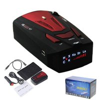 Wholesale DC Power TM Voice Alert Laser Auto Radar Dector Degree Car Radar Detector V7 with LED Display Red Black