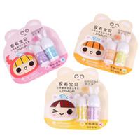 Wholesale 2016 Natural Lip Balm Cute Fruit Gloss Transparent Balm Labial Para Labios Baume Girls Cute Lip Balm Set